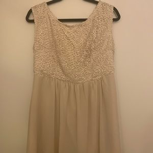 Francesca's Cream Dress